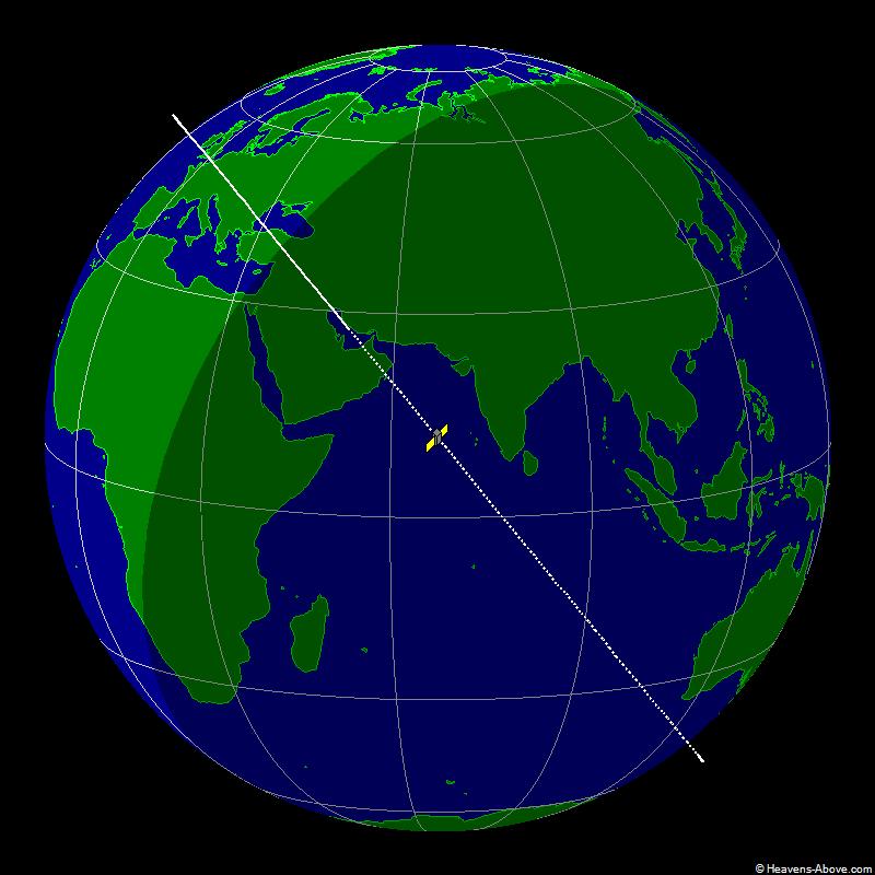 Aktuální pozice raketoplánu X-37B na oběžné dráze