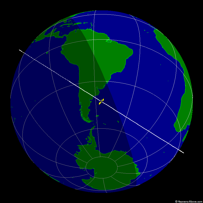 Russian EORSAT Spy Satellite Ground Trace