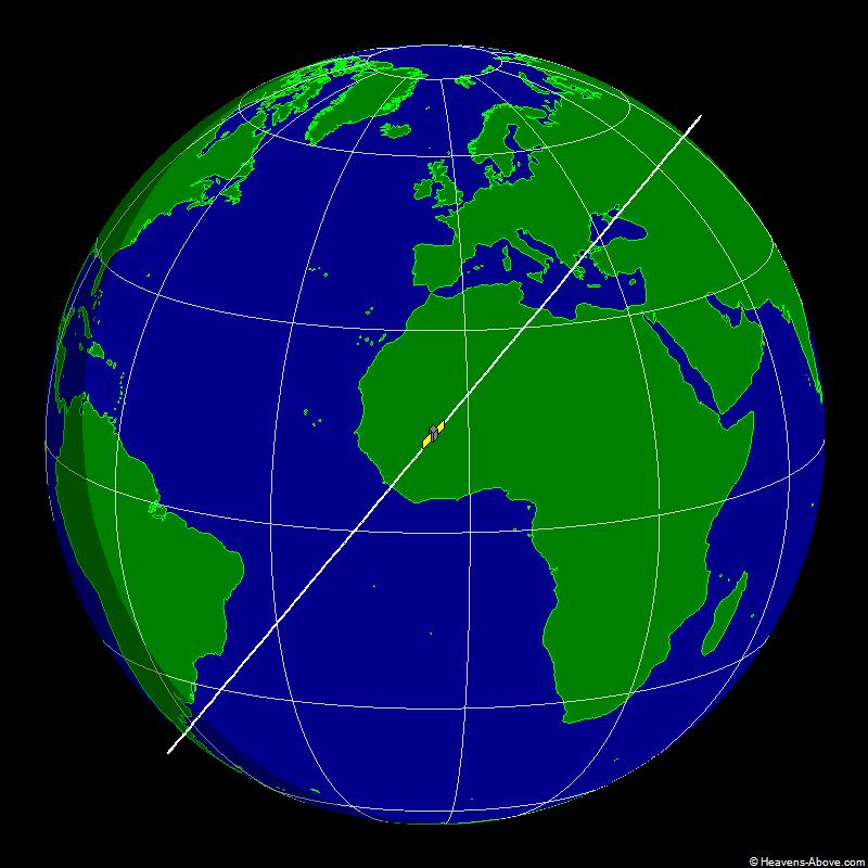 USA, Hubble Space Telescope Ground Trace