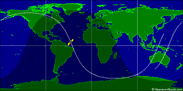 Russian EORSAT Spy Satellite Ground Trace