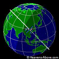 posizione ISS Stazione Spaziale Internazionale