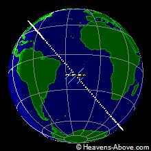 The position of ISS at 12/20/2006 1:09:16 PM UTC