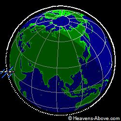Вид на плоскость орбиты