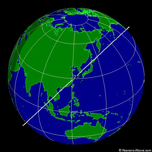 Position actuelle et trajectoire de la station spaciale américaine ISS