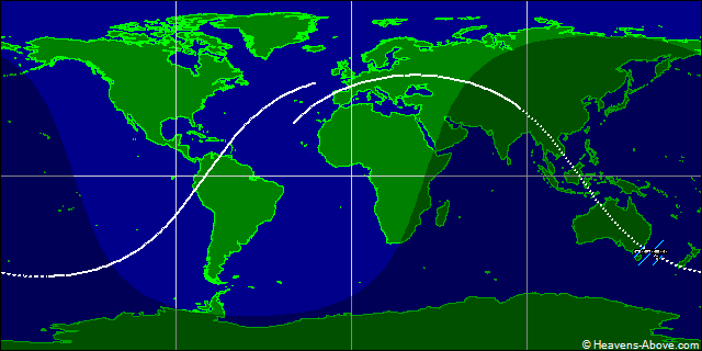 International Space Station Ground Trace