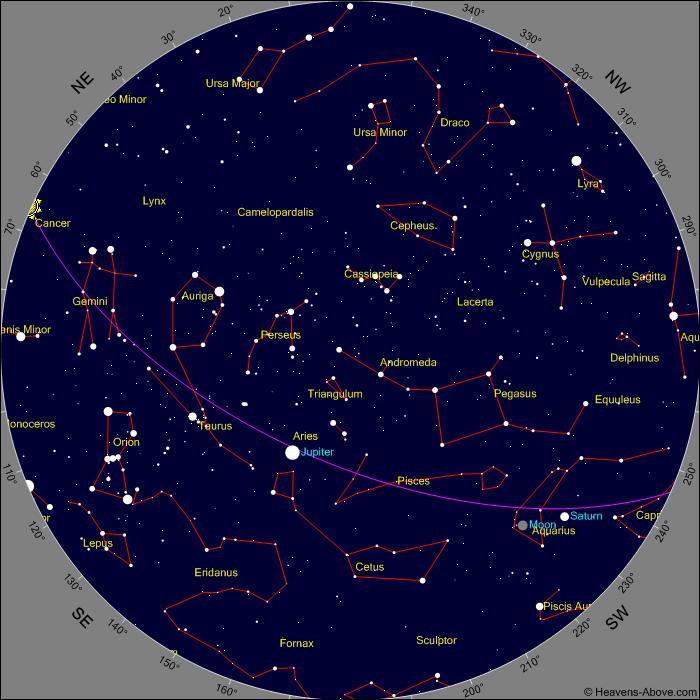 current night sky over Scndriglia