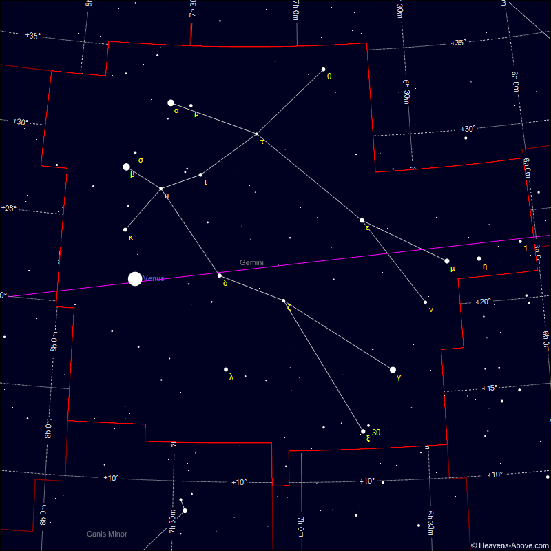 Sky chart of the constellation