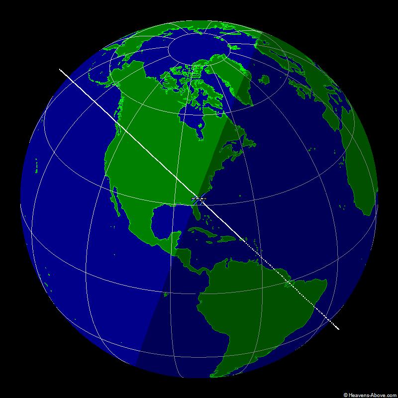 Position actuelle de l'ISS