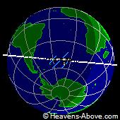 Posición actual de la estación espacial