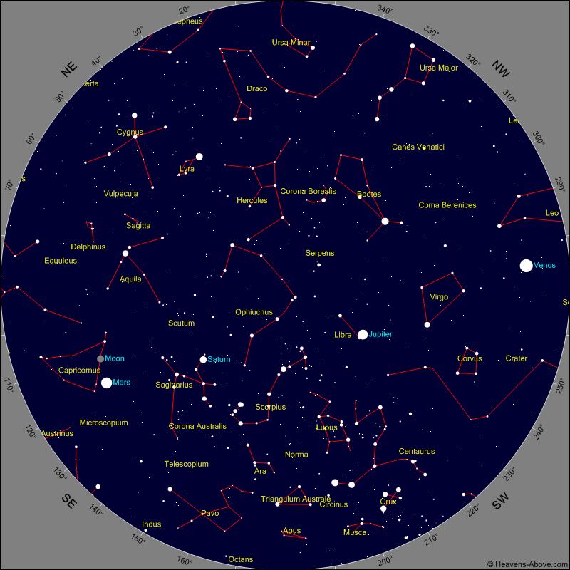 Sternkarte Heavens Above