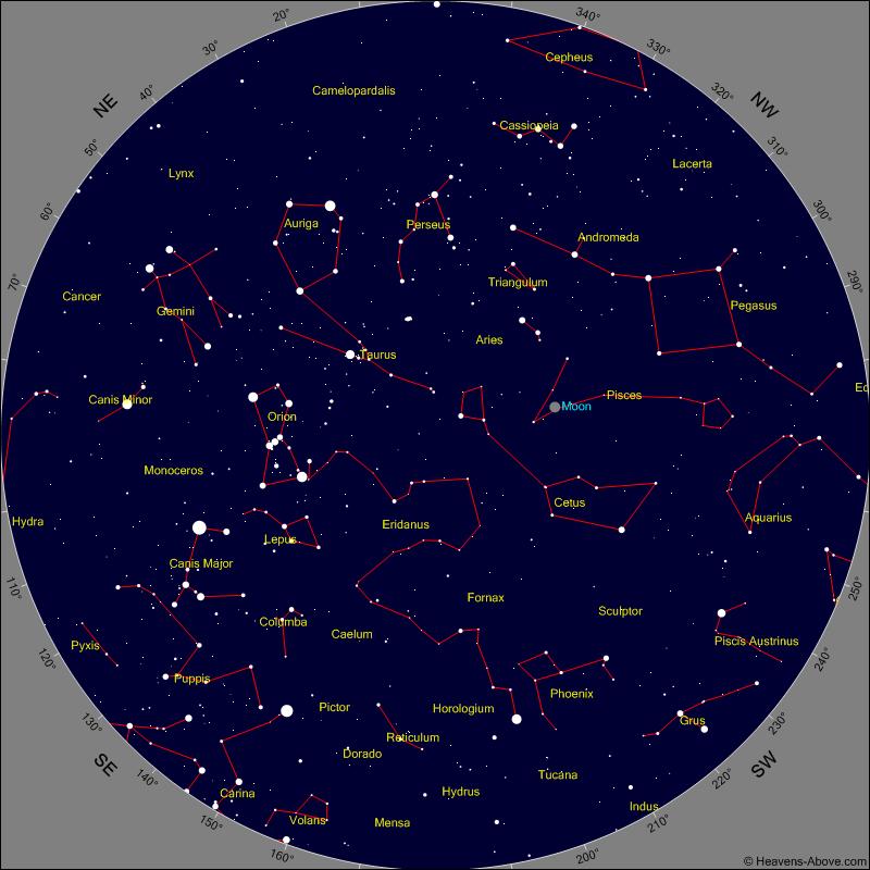 Karte von Heavens Above